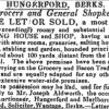 1834 Reading Mercury Grocer's Shop