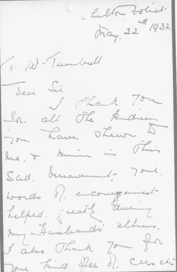 Letter Emily Dixon to Turnbull a