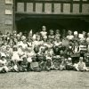 1930s children outside church house